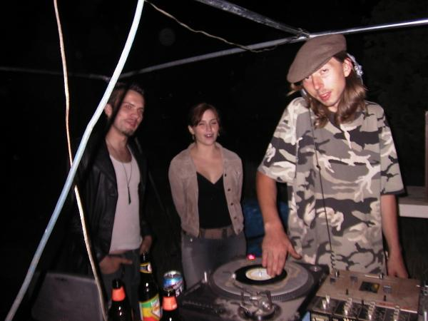 "DJ Lonely Boy performing at ""Party under the stars"""